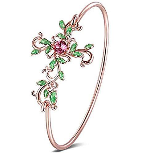 Angelady Rose Gold Armbänder und Armreifen für Frauen in Roségold mit Kristallen von Swarovski | Zarte Frauen Schmuck Geschenk für Frauen Mutter Freund
