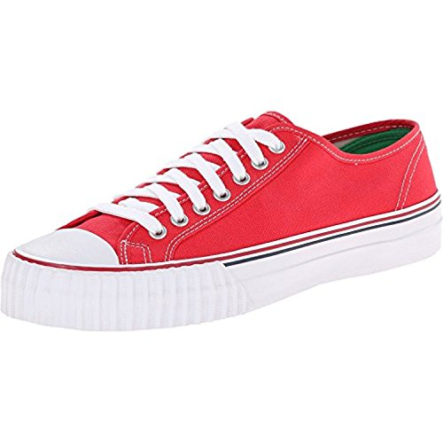 PF Flyers Men's Center Lo Red Canvas Sneaker 4 D (M) (Canvas-flyer)