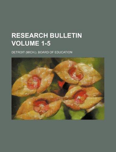Research bulletin Volume 1-5