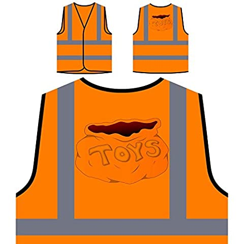 Nouveau Sac De Jouets Cadeau De Noel Veste de protection orange personnalisée à haute visibilité