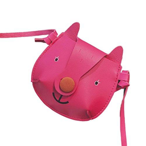 Bzline® Kids Borse A Tracolla Mini A Forma Di Fumetto Carino Rosa Caldo
