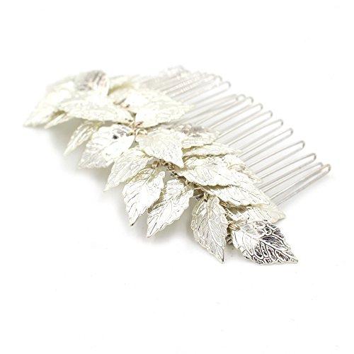 Leaf Tiara Kamm–Bridal Hochzeit Haar Clip Haarband Mum Stirnband Kämme Griechisch Zubehör (Halloween Requisiten Bewegen)