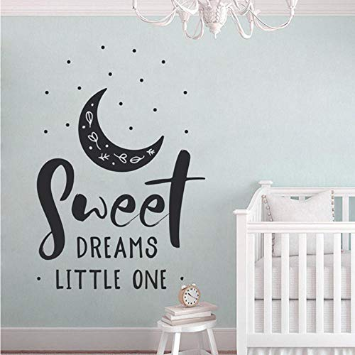 FobostorySweet Dreams Little One Spruch Kinderzimmer DekorSüßesBaby Dusche WandVinyl Aufkleber Sweet Dreams Schild 57X68 Cm