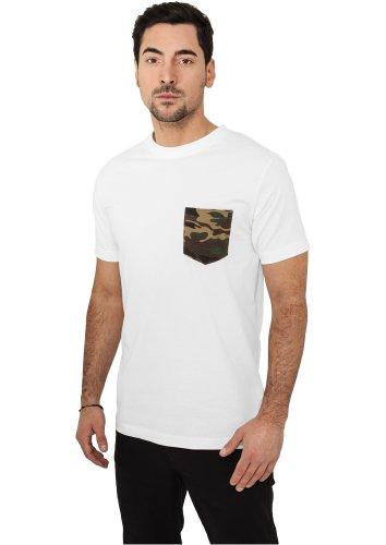 URBAN CLASSICS - Camo Pocket (white/camo) - T-Shirt White/Camo