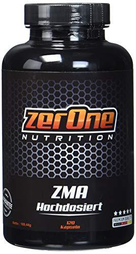 ZerOne Nutrition Premium ZMA 120 Kapseln Hochdosiert, Zink ZMA Kapseln aus hochwertigem Konzentrat, Gut verträglich und reich an Magnesium und Zink