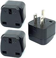 KSA/UAE/UK to US/Canada/Japan Plug Adaptor, 3-pin KSA/UAE/UK Plug Convert to 3-pin United State/Canada Socket
