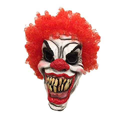 Halloween-Maske, Halloween-Kostüm Karies Clown-Latex-Maske, Horror-Geist Beängstigend, Prank Maske Gesicht Beängstigende Party, Bar-Requisiten, Maskerade
