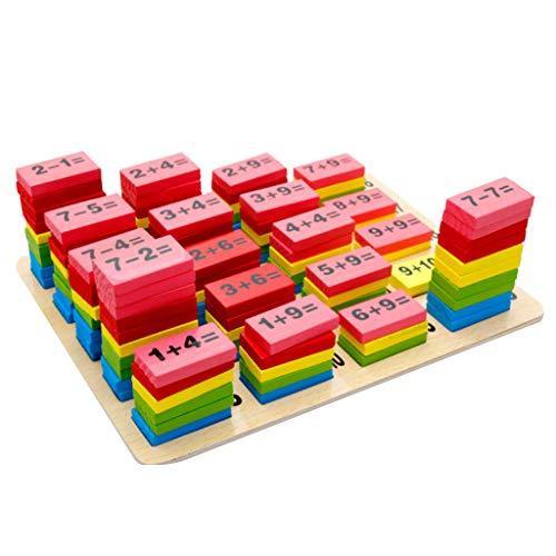 ZOUCY Domino Blocks, 1 Set di Giochi di Giocattoli per Bambini di Matematica Classica aritmetica per Bambini