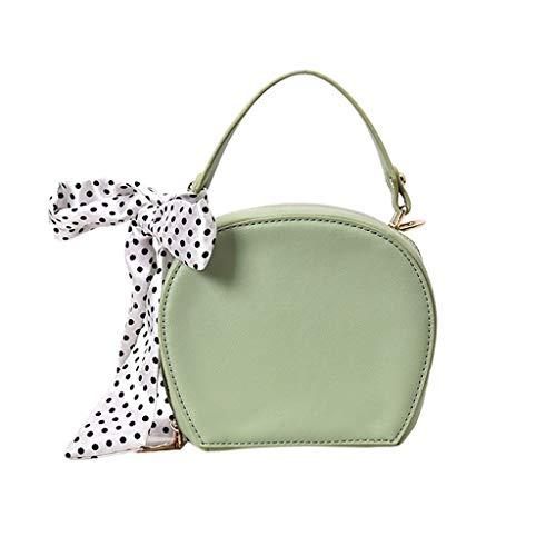 Linkay Neuer HeißEr Verkauf Mode Wild Damen Tasche Wilder Seidenschal Handtasche Messenger Crossbody UmhäNgetasche Rucksack-Grün