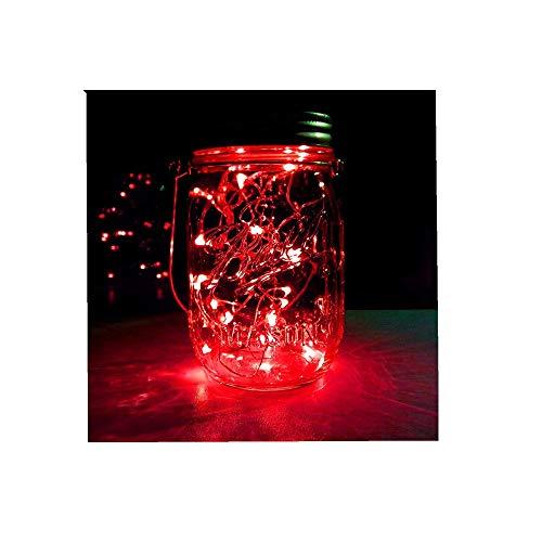 m 20LED Dekoration Licht, Farbe Beleuchtung Zeichenfolge Batterie Sternenklar Kupfer Draht Dekor Lichter Dekorativ Licht String Lights (Lila,6 PC) ()