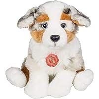 "Teddy Hermann 919353"" Australian Shepherd Puppy Sitting Soft Toy, 22 cm"