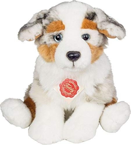 Teddy Hermann 919353″ Australian Shepherd Puppy Sitting Soft Toy, 22 cm