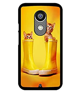 printtech Kitten Cat Boots Back Case Cover for Motorola Moto X2 , Motorola Moto X (2nd Gen)