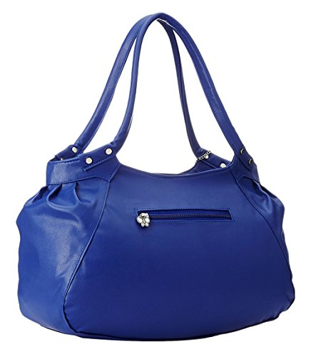 Butterflies pack combo de sac à main sac à bandoulière sac à main de 2 femmes Bleu et blanc