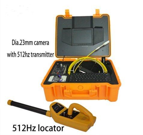 mabelstar 420TVL Wasserdicht Unterwasser Rohr Video Inspektion Kamera 30m Kanalisation Kamera für Verkauf und 512Hz Sender Locator (Digitale Locator)