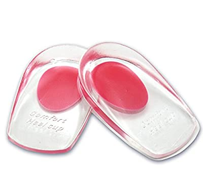 Footful 1 Pair of Gel Heel Cups Heel Support Pads Cushions for Plantar Fasciitis Heel Pain---UK3.5-6.5