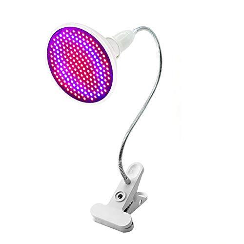 Ingrirt5Dulles 20W Runde Zimmerpflanzen Wachstum Rot Blau Spektrum 200-LED Licht Clip Lampe 1