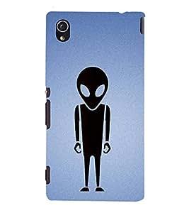Fiobs Designer Phone Back Case Cover Sony Xperia M4 Aqua :: Sony Xperia M4 Aqua Dual ( Alien Mars Attack Logo )
