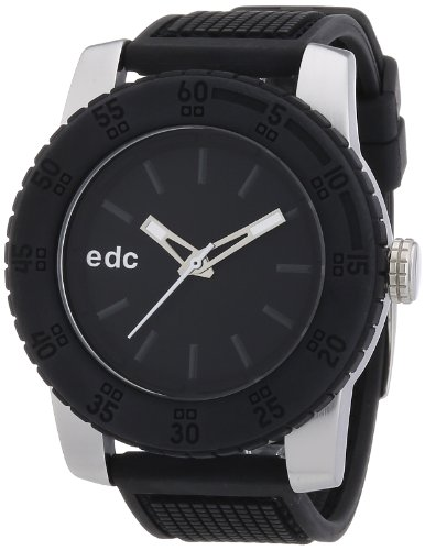 Edc By Esprit Pendulum Unisex Analogue Watch with Black Dial Analogue Display - EE101001001