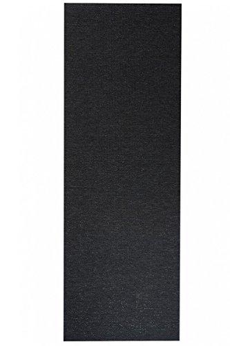 havatex Flachgewebe Teppich Sahara Läufer - robuste Kunstfaser in Edler Sisal-Optik | schadstoffgeprüft pflegeleicht | für Schlafzimmer Büro Flur Diele, Farbe:Schwarz, Größe:80 x 500 cm