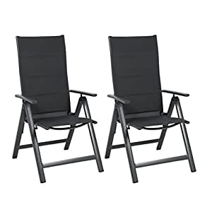 greemotion alu gartensessel klappbar im 2er set. Black Bedroom Furniture Sets. Home Design Ideas