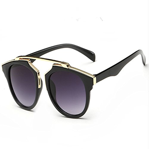 Z-P New Style Wayfarer Fashion For Grils Round Lens Reflective UV400 Sunglasses (Novità Collezione Sole)