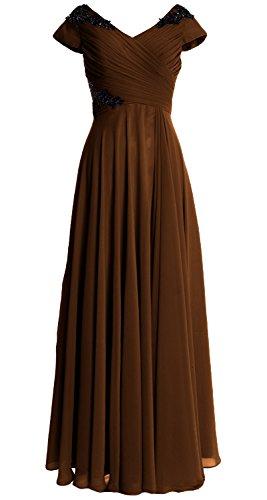 MACloth - Robe - Trapèze - Femme Marron - Marron