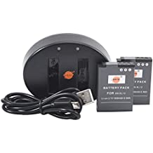 DSTE 2pcs Batería + Cargador de Batería USB para Nikon EN-EL12 Coolpix A900 P300 P310 P330 P340 S31 S70 S610 S620 S630 S640 S800c S1000pj S1100pj S1200pj S6000 S6200