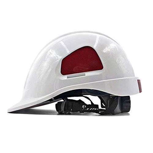Casco de Seguridad Casco de Trabajo, Casco Protector de construcción, Casco de construcción Muy Ligero. (Color : D)