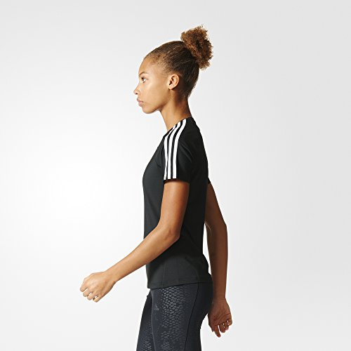 adidas Women's D2m 3 Stripe T-Shirt