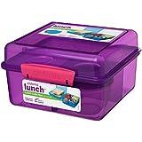 Sistema Lunch Box Cube Max 2L with Yogurt Pot, Purple