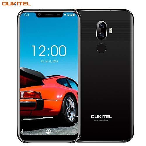 OUKITEL U18 4G Smartphones Libres 4GB RAM 64GB ROM Teléfono móvil Cámara Doble 16MP+5MP 5.85 Pulgadas Pantalla Full HD Dual SIM Octa-Core 4000mAh Batería con Cara y desbloqueo de Huellas Dactilares
