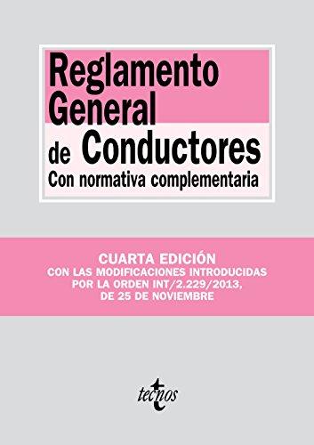 Reglamento General de Conductores: Con normativa complementaria (Derecho - Biblioteca De Textos Legales) por Editorial Tecnos