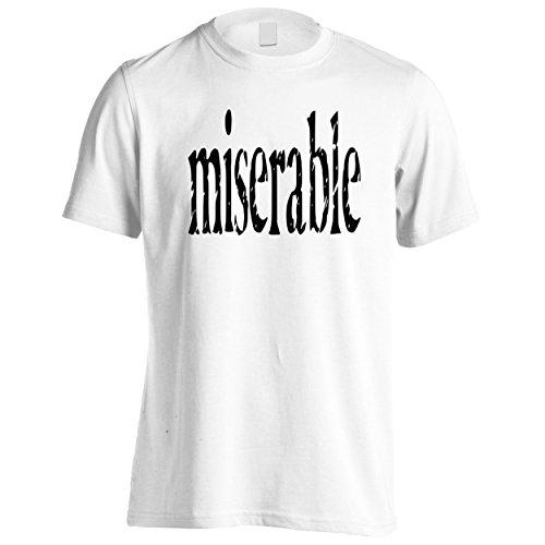 Novità divertente misera Uomo T-shirt d353m White