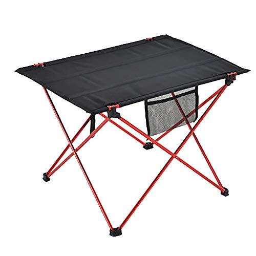 Table Pliante ExtéRieure en Alliage D'Aluminium Ultra LéGer Portable Table Pliante Table De Pique-Nique Table Basse Camping Barbecue Table CarréE Rouge 56 * 42 * 37cm