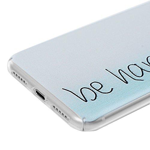 iPhone 7 Hülle Case, iPhone 7 Tasche YOKIRIN Utra Slim PC Hardcase Cover Schutzhülle Handyhülle Hart Voll Hemming Handytasche Etui Transparent Durchsichtig Handycase Backcover Schale Muster:Stammes El Be Happy