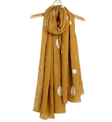 Superora Damen Schal Halstuch Tuch Baumwolle Leinen Frühling Herbst Winter Warm gegen Sonne