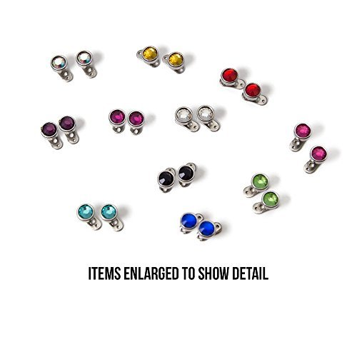 Lot of 48pc Mix Colors Surface Piercing Jeweld Dermal Anchorl Body Piercing Implant 316l Surgical Steel- 22 Tops and 22 Bottoms - 44 Piece Total by EG GIFTS