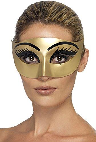 Böse Cleopatra Maske, gold ()