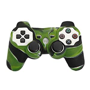 Assecure Camouflage Green Army Silicone Skin Protective Cover Rubber Bumper Case For Sony PS3 Controller [Playstation 3]