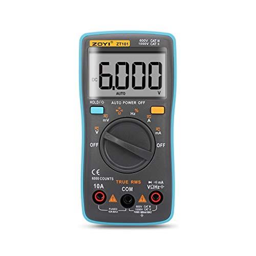 FiedFikt Digitales Multimeter, 9999 Counts, mit analogem Balkendiagramm, AC/DC-Spannung, Amperemeter, automatische Bereicherung (Hot Wheels Ac Dc)