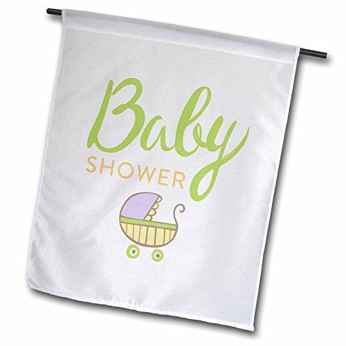 3dRose FL 256520_ 1Dusche, Bild von Einem Baby in a St Garten Flagge, 30,5x 45,7cm | Bad > Duschen > Duschen | Polyester | 3dRose