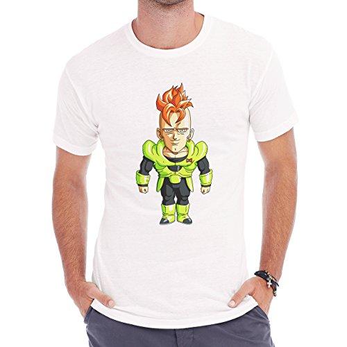 Dragon Ball Z Cyborg Mini Herren T-Shirt Weiß
