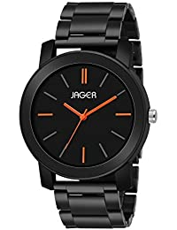 JAGER Analogue Men's Watch (Black Dial Black Colored Strap)