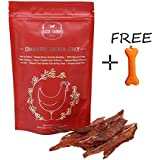 Doggie Dabbas Wheat, Gluten and SOYA Free Dog Treats with Goofy Tails Bone Shape Printed Key Chain (Cranberry Chicken Jerky 85gm, Pack of 1)