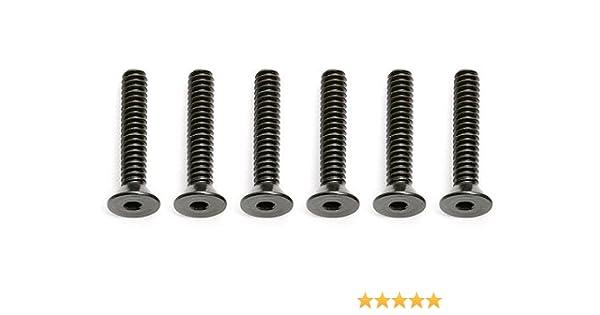 6 Team Associated 6915 4-40 x 5//8 Flat Head Socket Screw