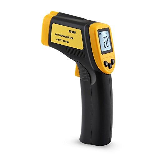 Preisvergleich Produktbild Amzdeal Infrarot Thermometer Berührungslose Pyrometer -32 bis 380°C mit Displaybeleuchtung Batterie im Lieferumfang