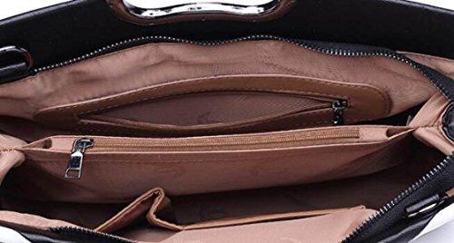 Borsa A Tracolla Tote Bag Da Donna Moda Retro Elegante Borsa Grande Capacità Borsa Da Donna In Pelle PU Borsa A Mano Donna Borsa Grande Black