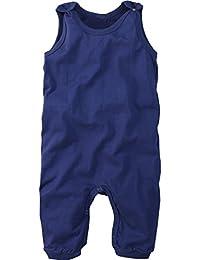 wellyou, Baby-Strampler, Kinder-Strampler, blau, Strampelanzug für Jungen und Mädchen, Single-Jersey aus 100% Baumwolle, Größe 56 - 122