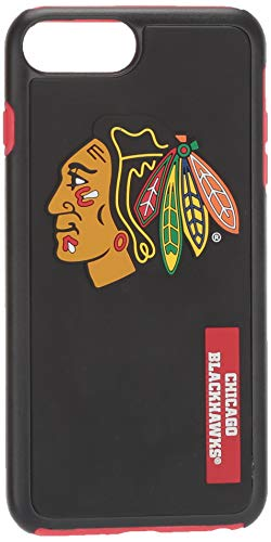 Forever Collectibles Chicago Blackhawks Impact TPU 2 teilige Dual Hybrid iPhone 8 Plus/iPhone 7 Plus/iPhone 6 Plus/6S Plus - 14 cm Bildschirm nur